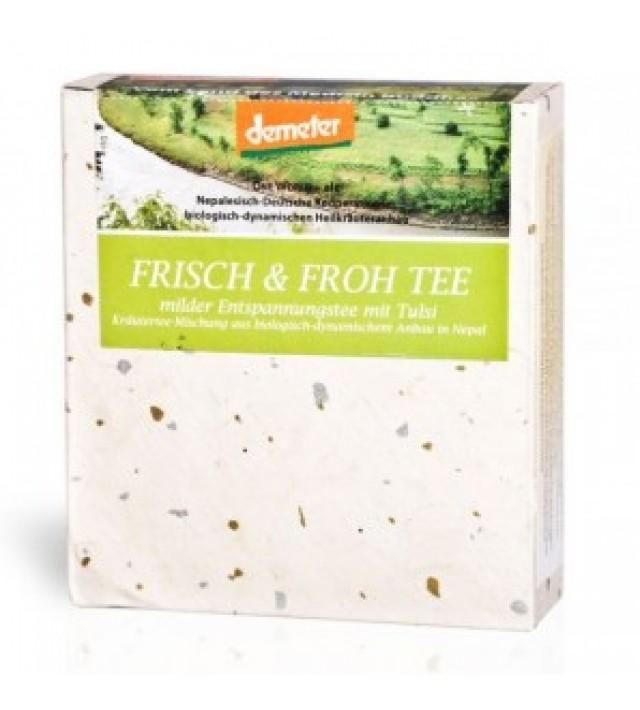 Био аюрведичен билков чай Nepali Gardens 'Свеж и радостен' 45 г