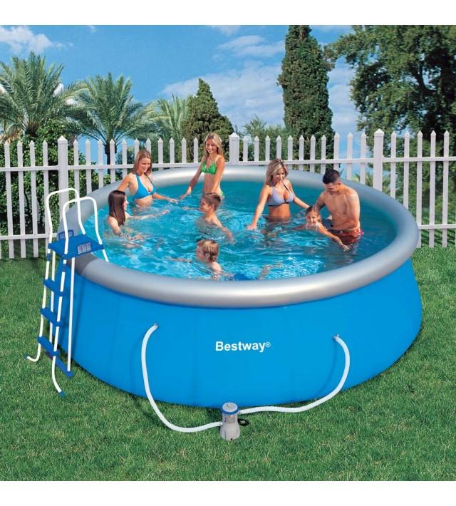 Надуваем басейн Bestway Fast Set Pool 57148, кръг