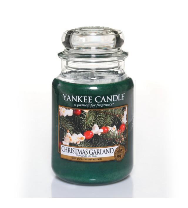Ароматна свещ в голям буркан Yankee Candle Large Jar Christmas Garland 1316480E