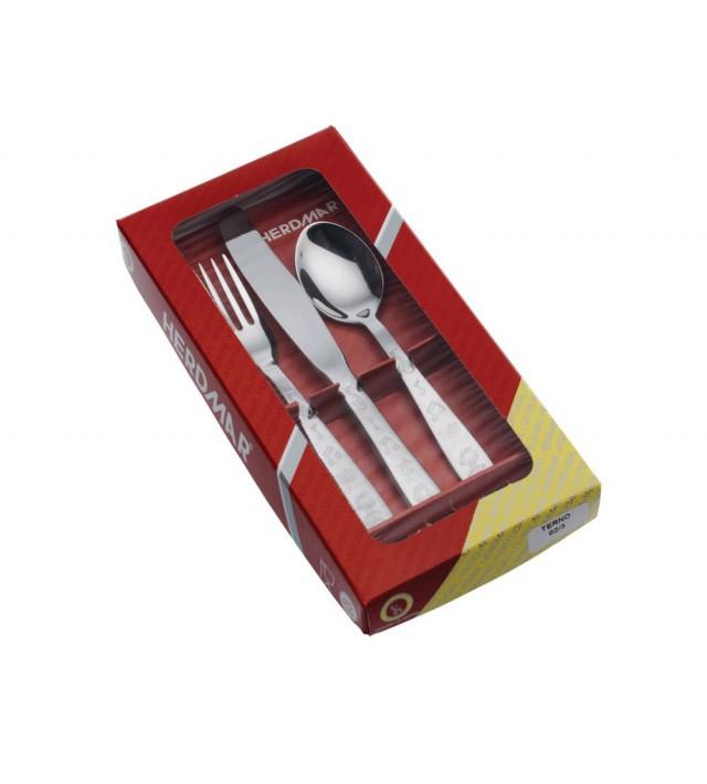 Детски комплект прибори за хранене от 3 части Herdmar 82/3