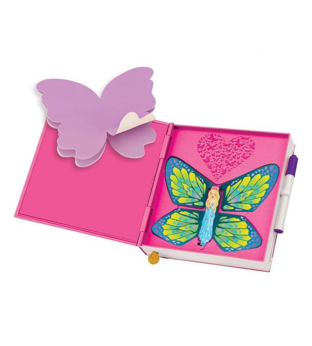 Вълшебен дневник с пеперуда Spin Master Flutterbye - розов