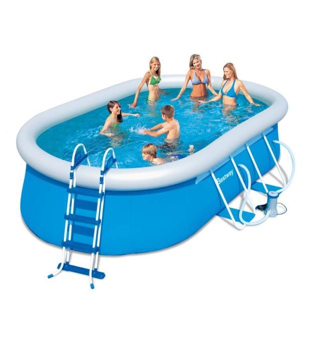 Овален надуваем басейн Bestway Fast Set Pool, 56269