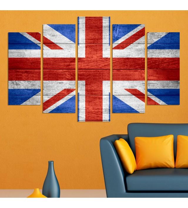 Декоративeн панел за стена с дизайн флагът на Великобритания Vivid Home