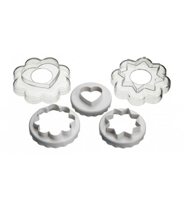 Комплект 5 броя двустранни форми за сладки Kitchen Craft