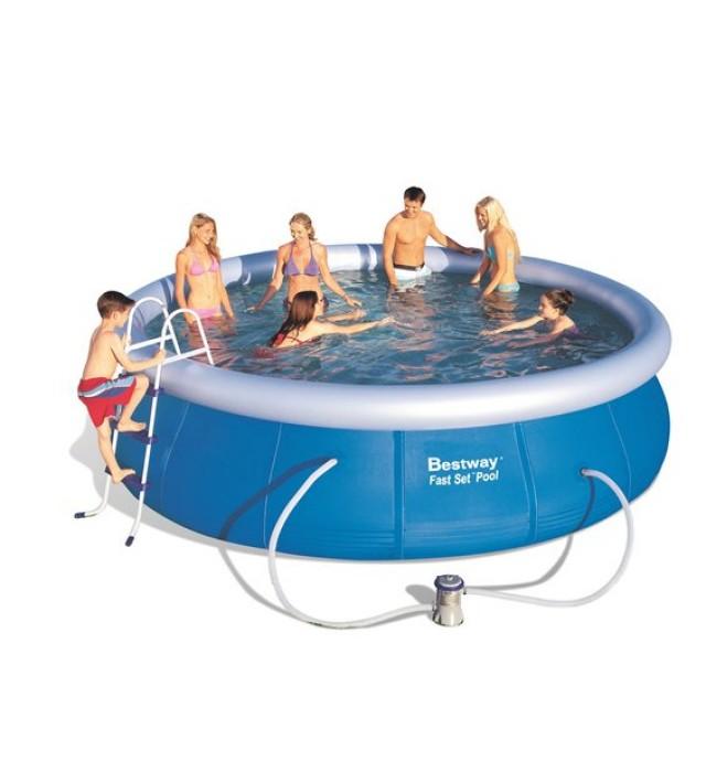 Кръгъл басейн с надуваем ринг Bestway Fast Set 457 х 107 cм
