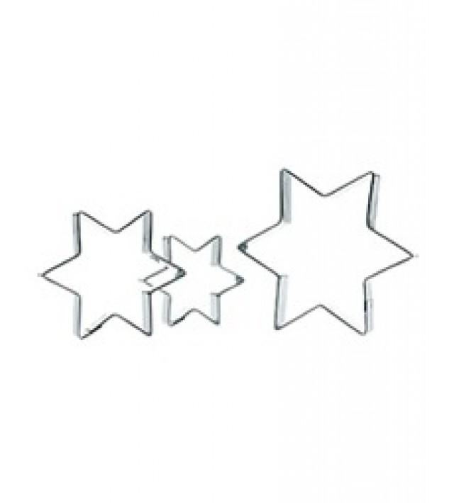 Комплект от 3 броя формички за сладки Sveico Звезди