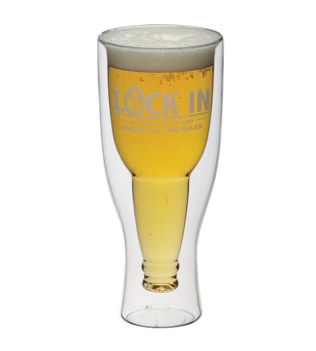 Двустенна чаша за бира Kitchen Craft Locked In 420 мл